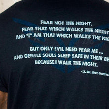 """Angel Of The Night"" T-Shirt - Black - Blue Grit"