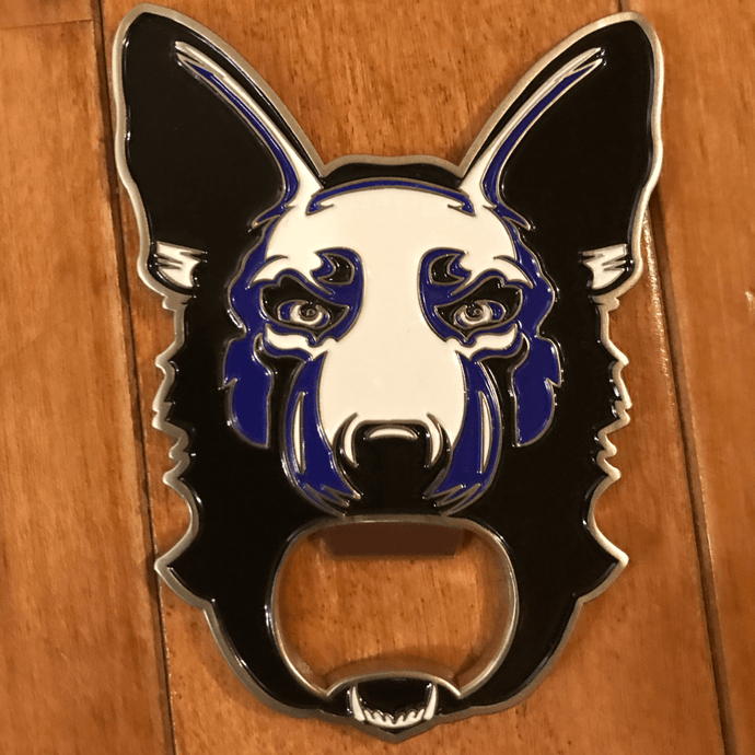 K9 Line challenge coin/bottle opener - Blue Grit