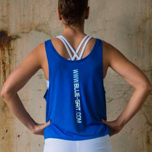 Women's Royal Crop Tank - Blue Grit