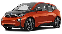 2016 BMW i3, 4-Door Hatchback w/Range Extender, Solar Orange Metallic w/Frozen Gray Accent
