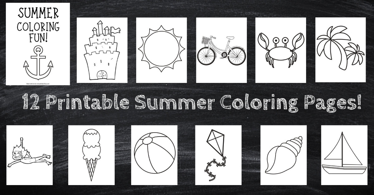 It is a graphic of Free Printable Summer Coloring Pages in kindergarten