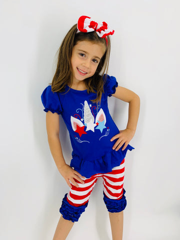 Patriotic 4th of July Outfit for Girls