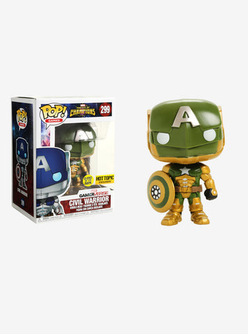 Funko Pop Games Marvel Contest of Champions Civil Warrior (Glow in the Dark)