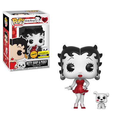 Funko Pop Animation Betty Boop with Pudgy (Black and White) Chase Set of 2