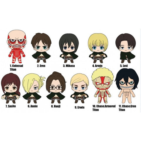 Attack on Titans 3-D Figural Keychain - Blind Bag