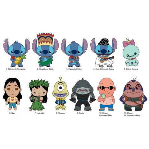 Disney Lilo & Stich 3D Figural Keychain Series 2 - Blind Bag