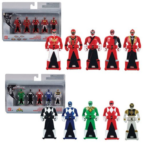 Bandai Power Rangers 25th Anniversary Ranger Keys 5-Pack