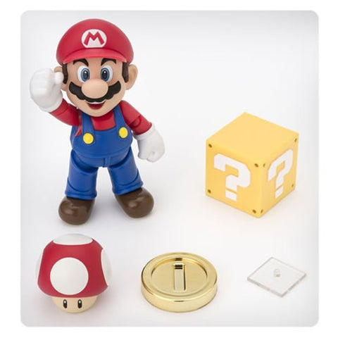 Bandai Tamashii Nations Super Mario Brothers Mario SH Figuarts Action Figure