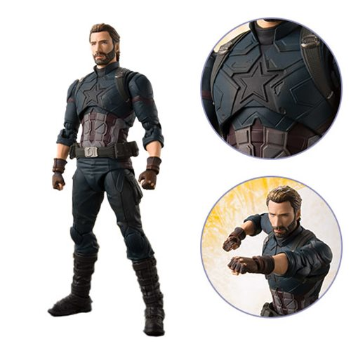 Bandai Tamashii Nations Marvel Avengers: Infinity War Captain America S.H. Figuarts Figure
