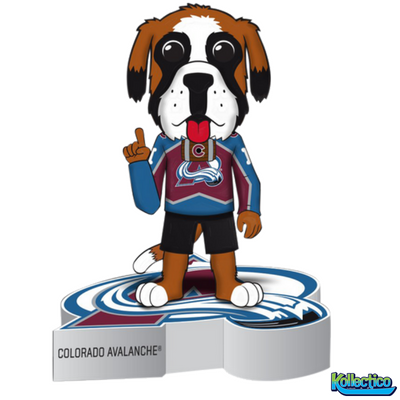 NHL Colorado Avalanche Mascot Bernie Logo Base Bobblehead