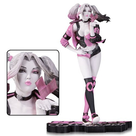 DC Collectibles Harley Quinn Pink, White and Black Valentine's by Lau Statue