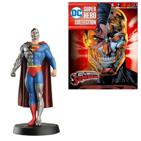 DC Superhero Best Of Figure Cyborg Superman with Collector Magazine #48