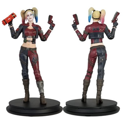 DC Injustice Harley Quinn Red Costume Deluxe Statue