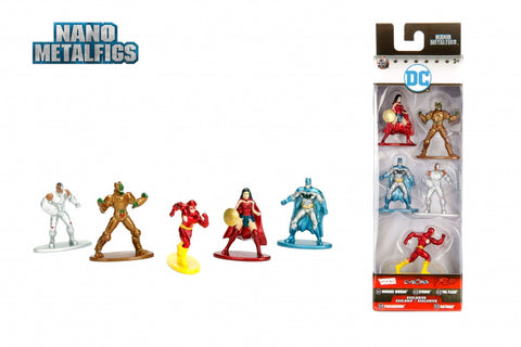 Jada Toys DC Comics Nano Metalfigs Die-Cast Mini-Figures 5-Pack Case - A