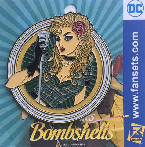 Fansets DC Comics Bombshells Art Black Canary Enamel Pin