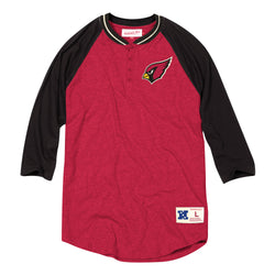 Mitchell & Ness NFL Arizona Cardinals 4-Button Henley