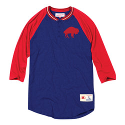 Mitchell & Ness NFL Buffalo Bills 4-Button Henley