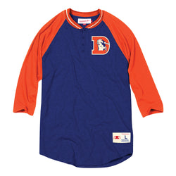 Mitchell & Ness NFL Denver Broncos 4-Button Henley
