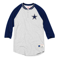Mitchell & Ness NFL Dallas Cowboys 4-Button Henley