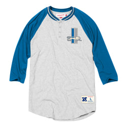 Mitchell & Ness NFL Detroit Lions 4-Button Henley