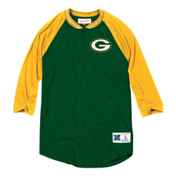 Mitchell & Ness NFL Green Bay Packers 4-Button Henley