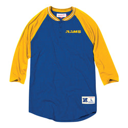 Mitchell & Ness NFL Los Angeles Rams 4-Button Henley