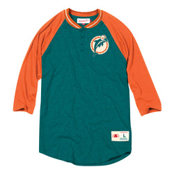 Mitchell & Ness NFL Miami Dolphins 4-Button Henley