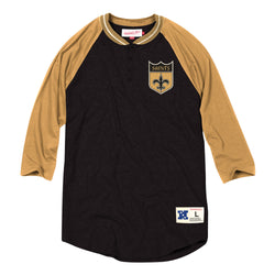 Mitchell & Ness NFL New Orleans Saints 4-Button Henley