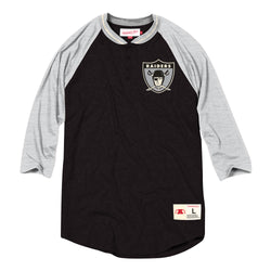 Mitchell & Ness NFL Oakland Raiders 4-Button Henley