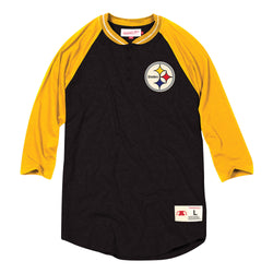 Mitchell & Ness NFL Pittsburgh Steelers 4-Button Henley