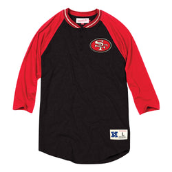 Mitchell & Ness NFL San Francisco 49ers 4-Button Henley