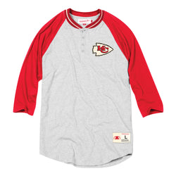 Mitchell & Ness NFL Kansas City Chiefs 4-Button Henley