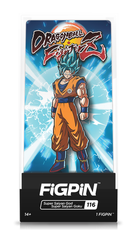 FiGPiN Dragon Ball FighterZ Super Saiyan God Super Saiyan Goku