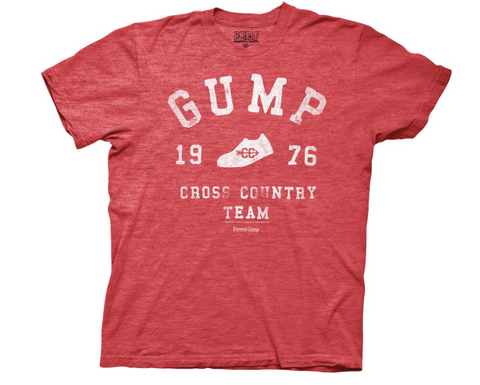 Forrest Gump Cross Country Heather Red T-Shirt