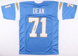 NFL San Diego Chargers Fred Dean HOF Signed Custom Jersey