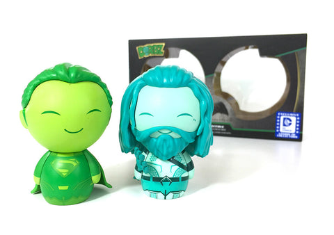 Funko Dorbz DC Superman (Green) & Aquaman (Blue) - Nerdy Collectibles