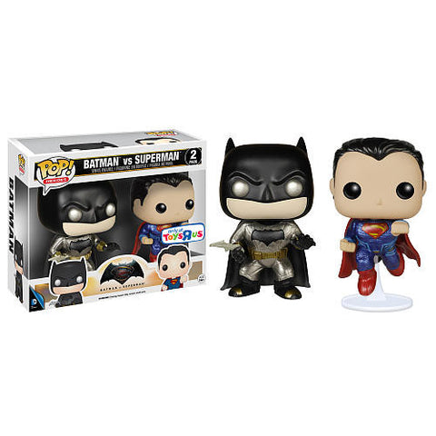 Funko Pop DC Batman vs Superman 2-Pack (Metallic) (Dawn of Justice) - Nerdy Collectibles