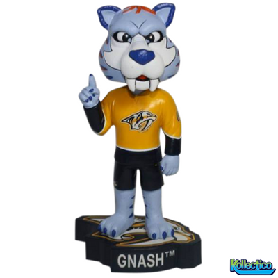 NHL Nashville Predators Mascot Gnash Logo Base Bobblehead