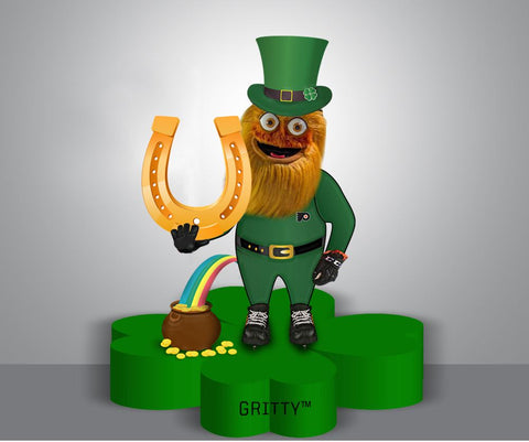 NHL Philadelphia Flyers Mascot Gritty St. Patrick's Day Bobblehead