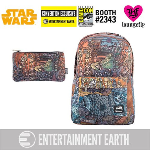 Loungefly Star Wars Jabba's Palace Backpack and Pencil Case Set