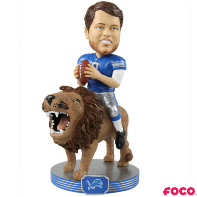 NFL Detroit Lions Matthew Stafford Riding Bobble