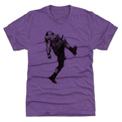 500 Level Ray Lewis Dance Sketch Heather Purple Premium Tee