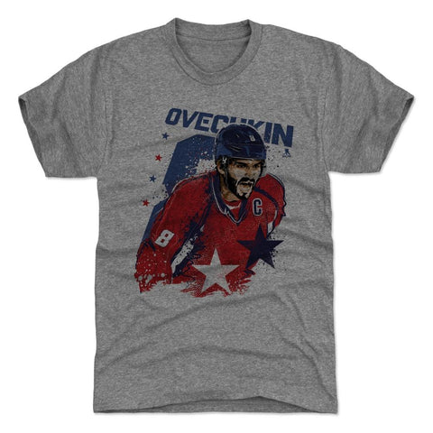 500 Level Alexander Ovechkin Smash Tri Gray Premium Tee