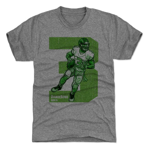 500 Level Russell Wilson Sketch 3G Tri Gray Premium Tee