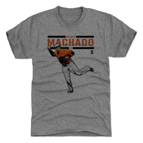 500 Level Manny Machado Play Tri Gray Premium Tee