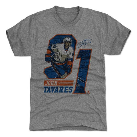 500 Level John Tavares Offset Tri Gray Premium Tee