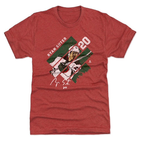 500 Level Ryan Suter Stripes Tri Red Premium Tee