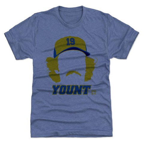 500 Level Robin Yount Silhouette Tri Royal Premium Tee