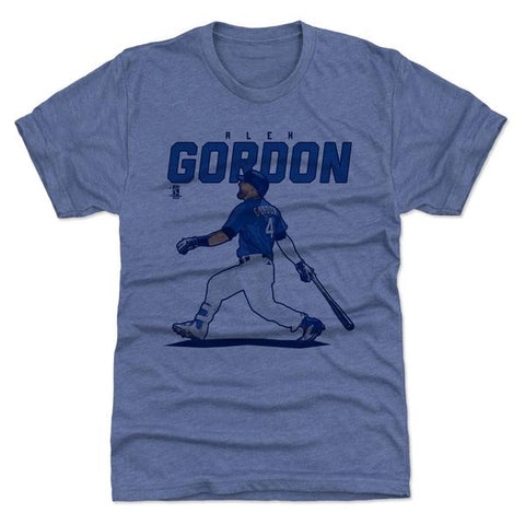 500 Level Alex Gordon Score Tri Royal Premium Tee