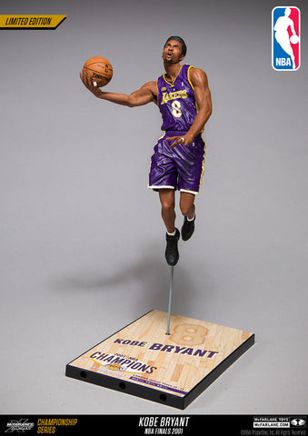 McFarlane Toys NBA Kobe Bryant Limited Edition Championship Series - NBA Finals 2001 - (Road purple #8 jersey)